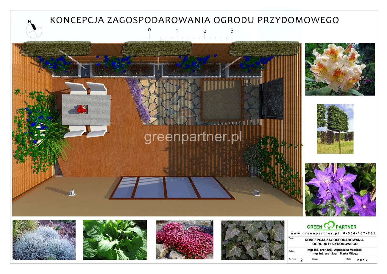 Projekt ogrodu Wawer Jeziorowa wersja 1
