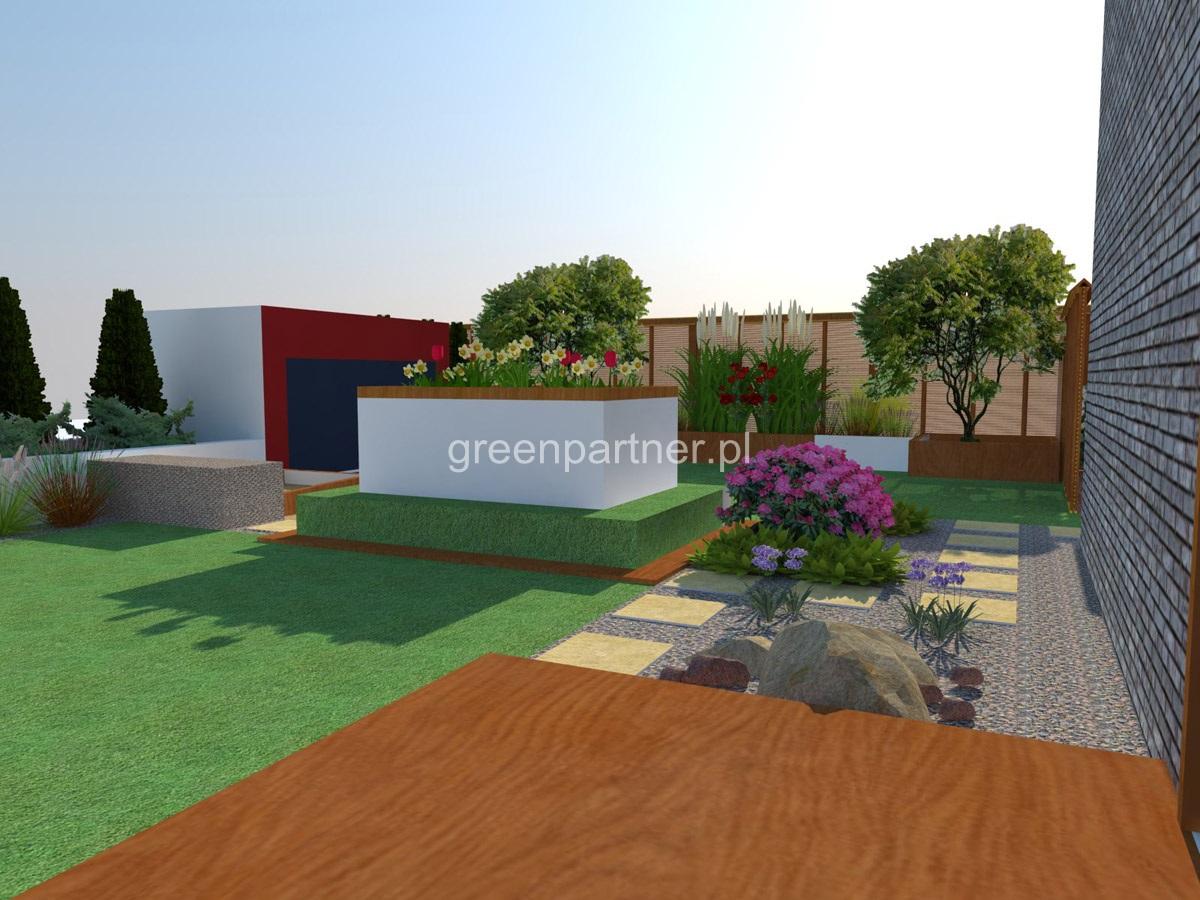 Ogród na dachu Mokotów