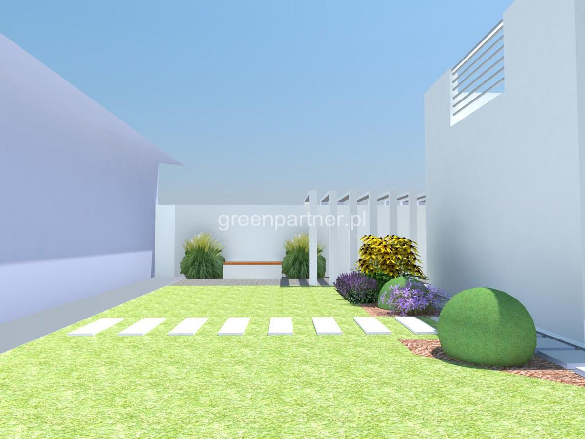 Projekt ogrodu nowoczesnego w Aninie