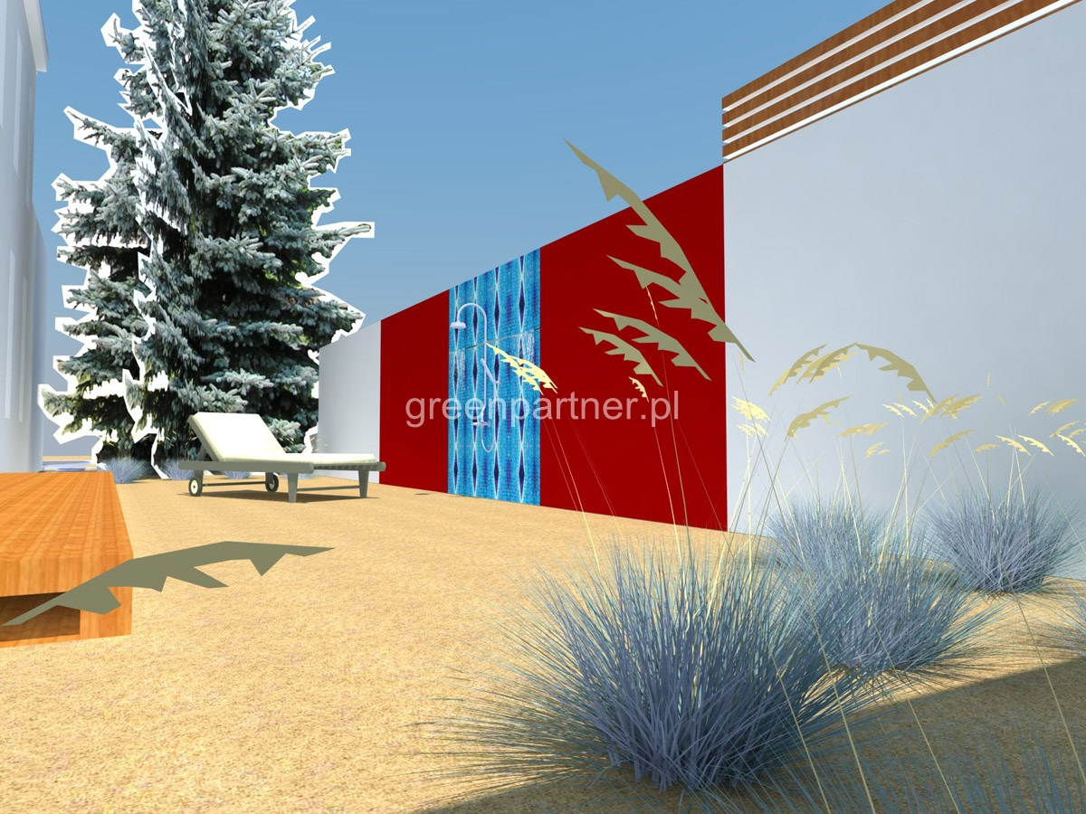 Projekt prysznica ogrodowego