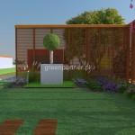 Projekt nowoczesnego ogrodu  Mokotów