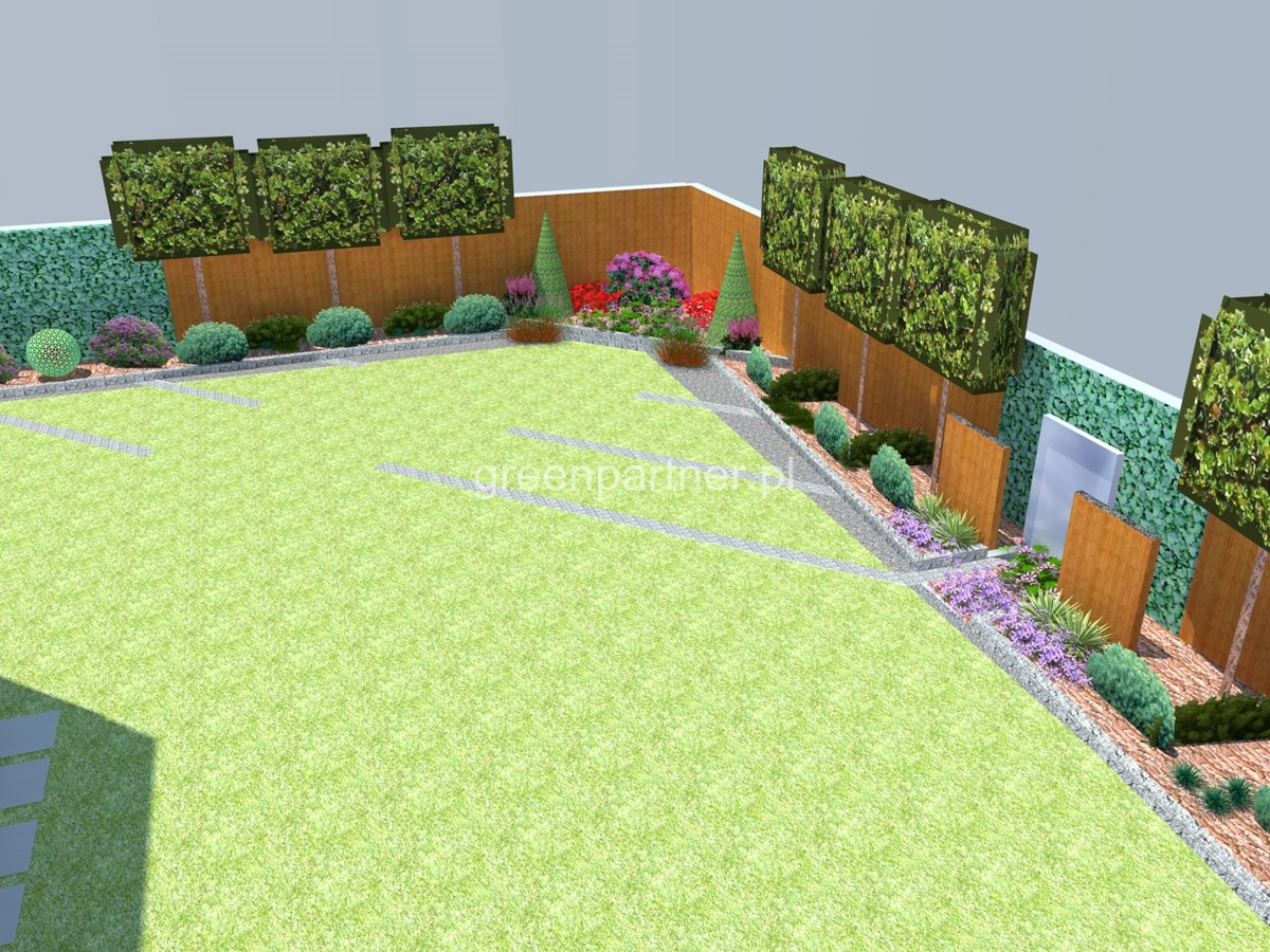Projekt ogrodu nowoczesnego Anin