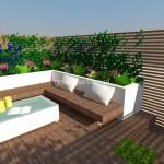 Projekt ogrodu nowoczesnego Wawer
