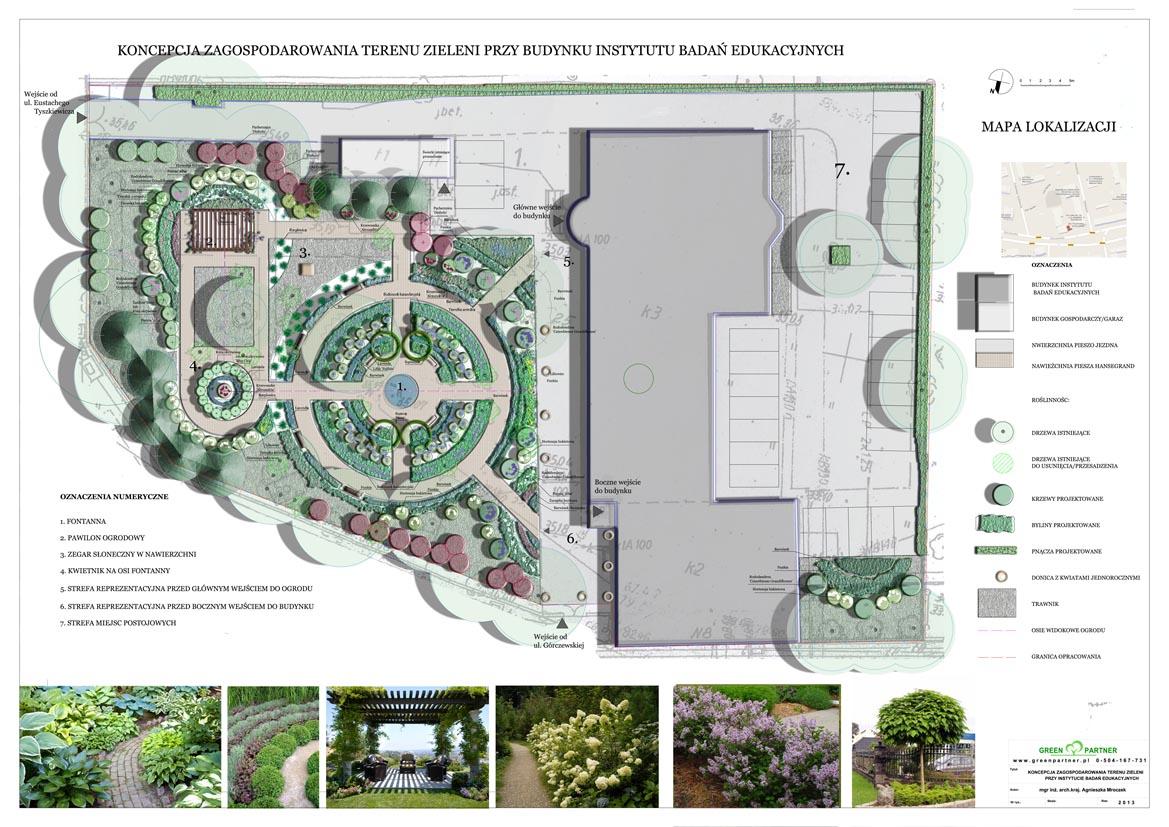 Projekt zieleni przy Instytucie Badań Edukacyjnych w Warszawie