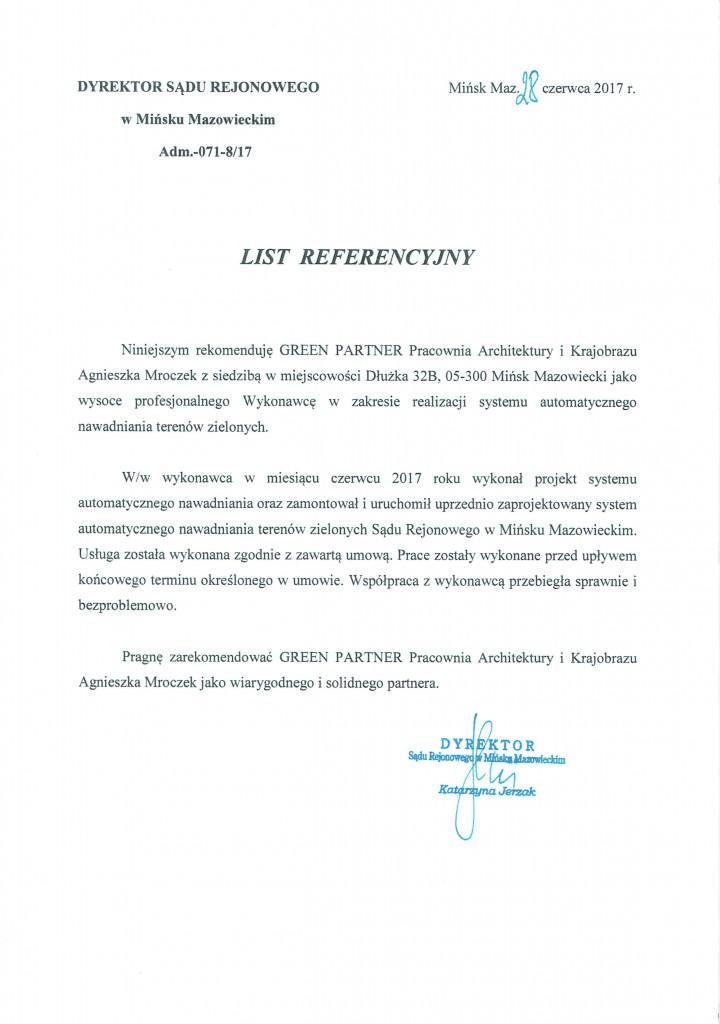 Referencje Sąd Mińsk Mazowiecki