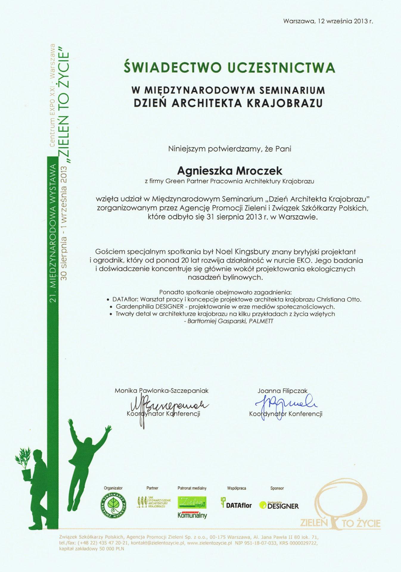 Dzień Architekta Krajobrazu 2013