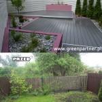 PRZED I PO Ogród w Wawrze
